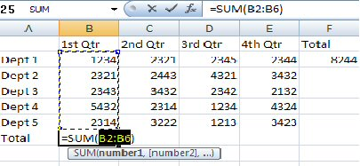 Training Excel Screen Shot